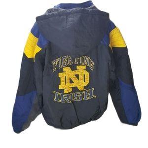 Vintage Notre Dame Starter Coat Size Large